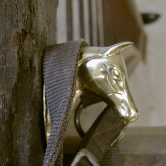Photos du château de La Baronnière : un porte-bride dans l'écurie