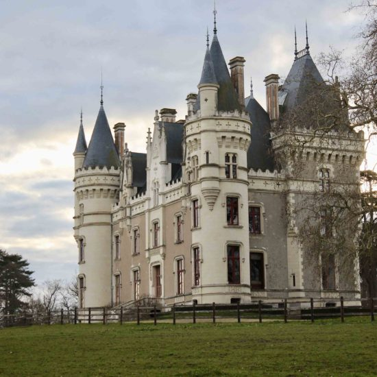 Photos de La Baronnière : la façade nord-est du château XIXème