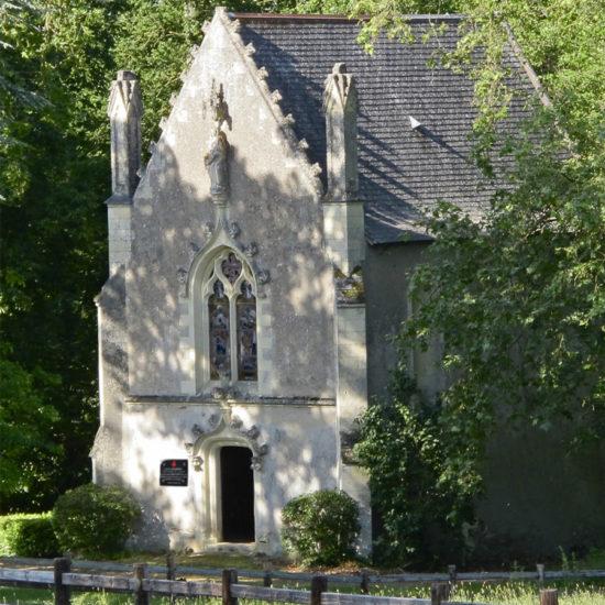 Photos de La Baronnière : la façade de la chapelle XIXème