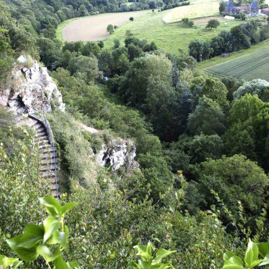Photos de La Baronnière : le panorama et le chemin de Croix du calvaire de Courossé