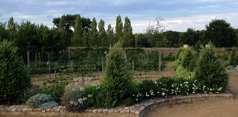 Le Quart Nord Est Du Jardin Chateau De La Baronniere