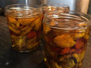La Baronnière - Tomates séchées : déposez-les dans des bocaux