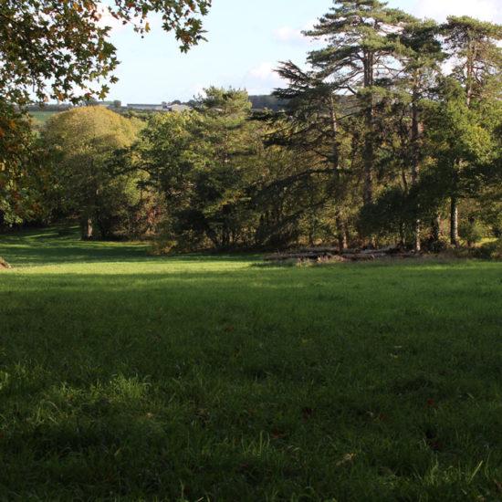 Le pré aux scouts dans le parc de La Baronnière