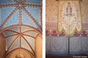 Guerre de Vendée : l'intérieur de la chapelle de La Baronnière