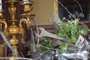 Pour le Nouvel An à La Baronnière, de petits bouquets de clés plates ont été confectionnés.