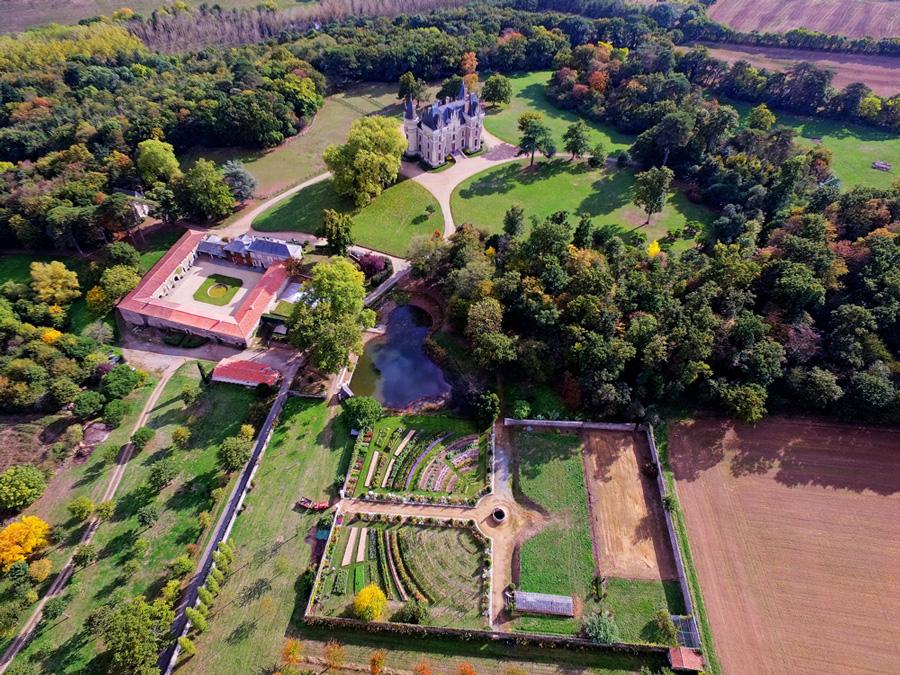 Photo aérienne du domaine de La Baronniière