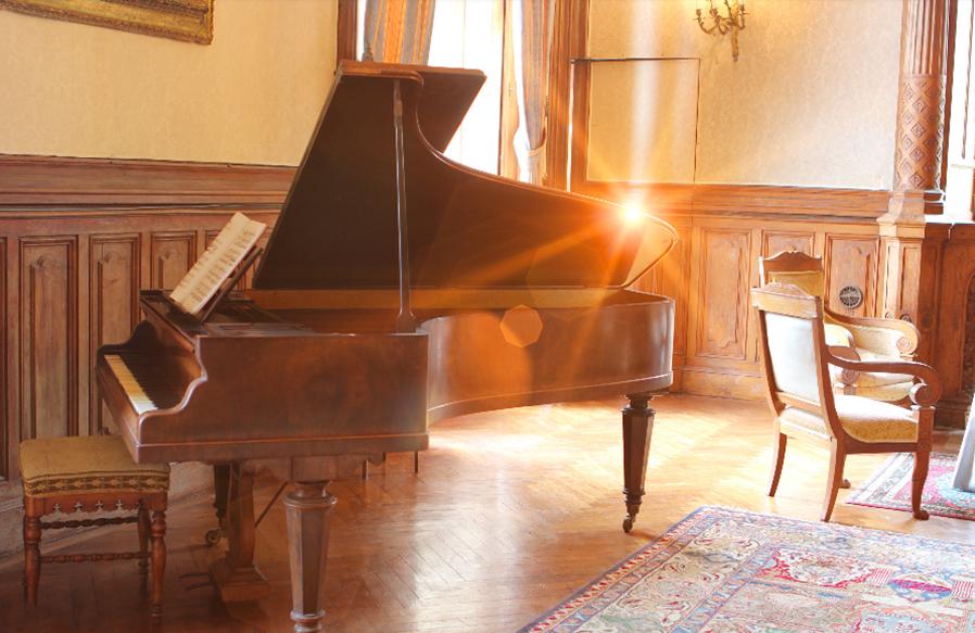 Le piano de La Baronnière a été restauré en 2018.