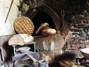 La Boulangerie et miches de pain au château de La Baronnière