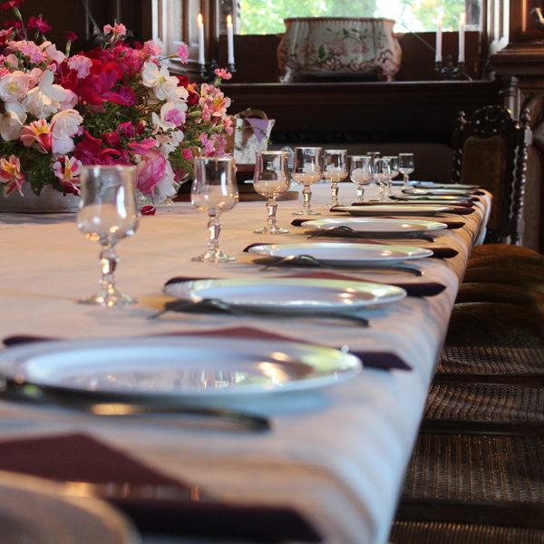 Locations : recevez vos invités le temps d'un repas au château de La Baronnière