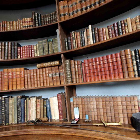 Photos de La Baronnière : la petite bibliothèque du château