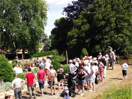 Visite commentée lors des Rendez-vous au jardin à La Baronnière en 2017