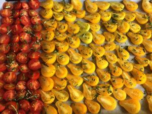La Baronnière - Tomates séchées : serrez-les avant de les enfourner