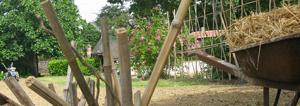Détail des travaux dans le jardin potager de La Baronnière