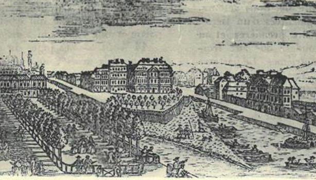 Dessin de Nantes dans la première moitié du 18e siècle