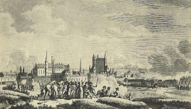 Gravure de l'attaque de Nantes par les Vendéens le 29 juin 1793