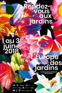 Affiche de l'édition 2018 des Rendez-vous aux jardins