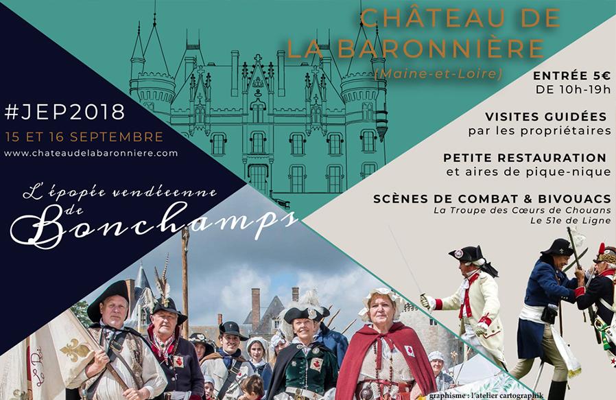Visuel Facebook des Journées du patrimoine à La Baronnière