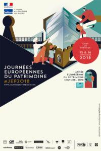 Affiche officielle des Journées du patrimoine 2018