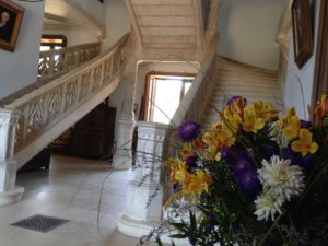 L'escalier d'honneur du château de La Baronnière